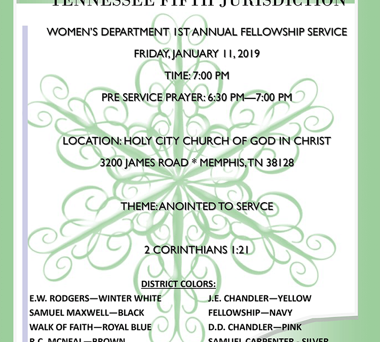 Jurisdictional Women Department 1st Annual Fellowship Service