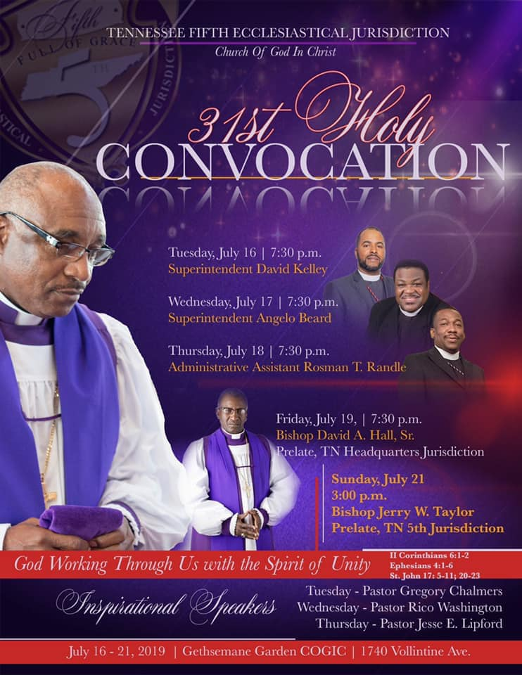 Tennessee Fifth Ecclesiastical Jurisdiction | Church of God in Christ